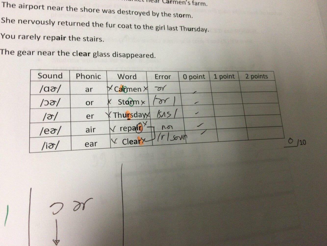 エングリットの英語発音強制 rの発音が0点
