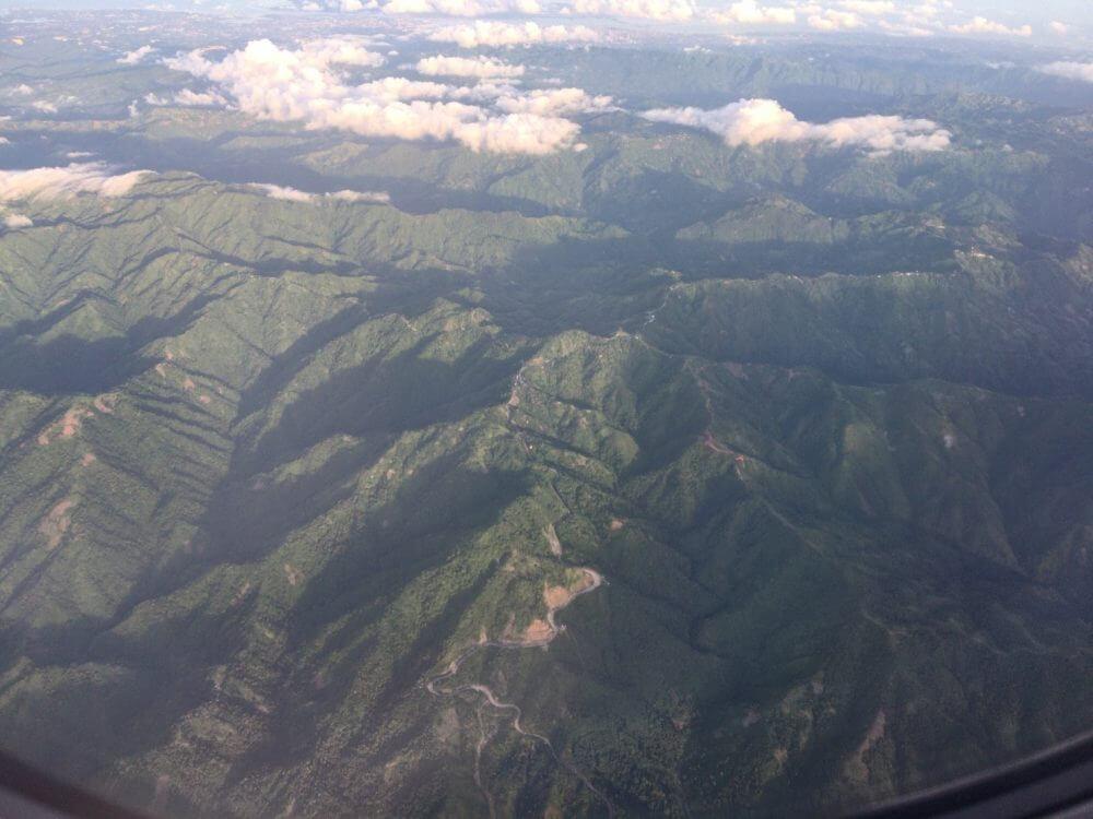 セブの飛行機からの景色