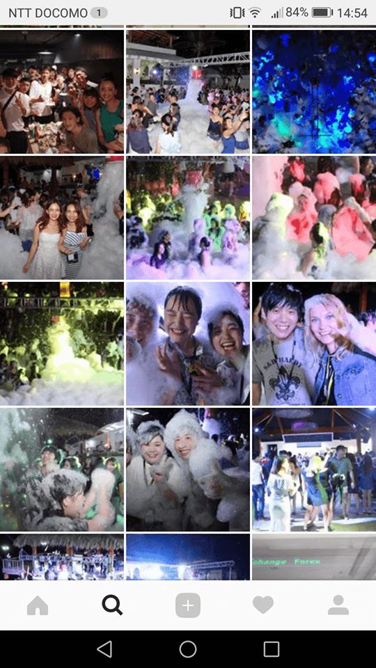 フィリピン留学の泡パーティ