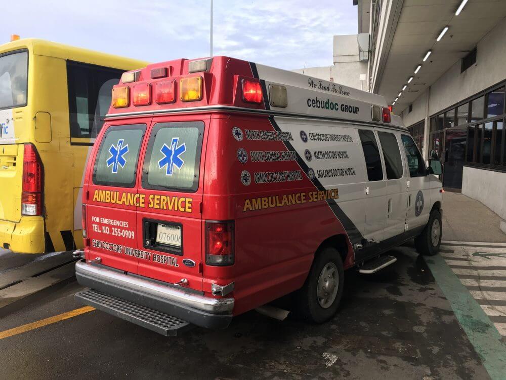 フィリピンで僕が乗った救急車