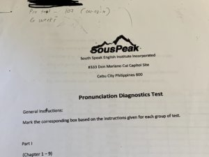 初回の発音チェックテスト結果