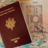 留学時のパスポートとビザの写真