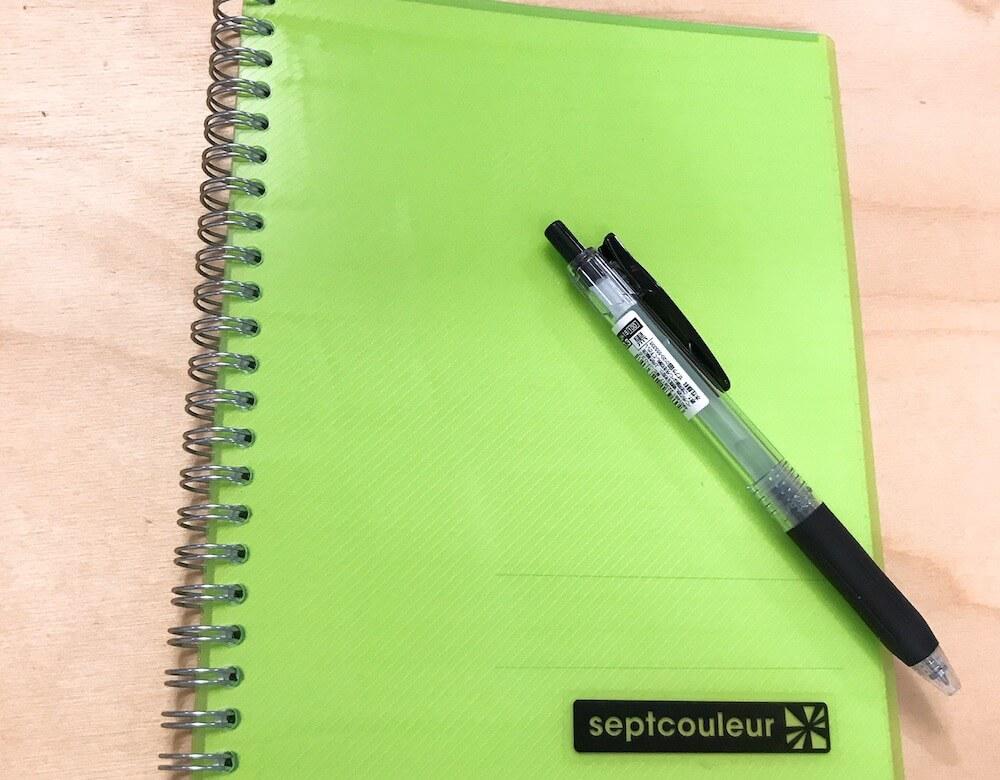 1ヶ月のフィリピン留学で使うノートとペン